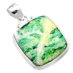 18.94cts natural green mariposite 925 sterling silver pendant jewelry t22700