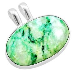 16.73cts natural green mariposite 925 sterling silver pendant jewelry t22704