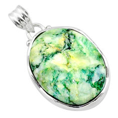19.07cts natural green mariposite 925 sterling silver pendant jewelry t22714