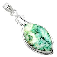 16.73cts natural green mariposite 925 sterling silver pendant jewelry t22717
