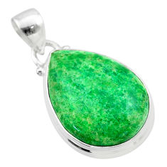 14.57cts natural green maw sit sit 925 sterling silver pendant jewelry t54670