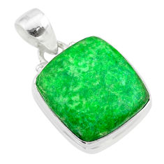 12.63cts natural green maw sit sit 925 sterling silver pendant jewelry t54679