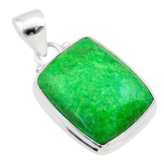 15.05cts natural green maw sit sit 925 sterling silver pendant jewelry t54694