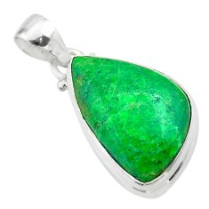 12.70cts natural green maw sit sit 925 sterling silver pendant jewelry t54695
