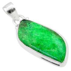 13.61cts natural green maw sit sit 925 sterling silver pendant jewelry t54698