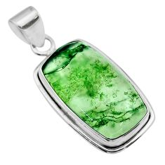 16.20cts natural green moss agate 925 sterling silver pendant jewelry t53581