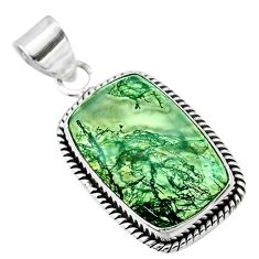 15.08cts natural green moss agate 925 sterling silver pendant jewelry t53592