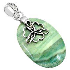 Clearance Sale-  green opal 925 sterling silver heart pendant jewelry r91417