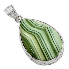 27.13cts natural green opal 925 sterling silver pendant jewelry r31900