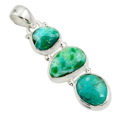 Clearance Sale- 13.15cts natural green opaline 925 sterling silver pendant jewelry d45403
