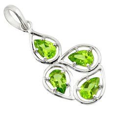7.17cts natural green peridot 925 sterling silver pendant jewelry d45695