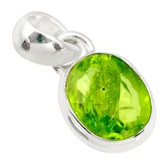 3.76cts natural green peridot 925 sterling silver pendant jewelry r36469