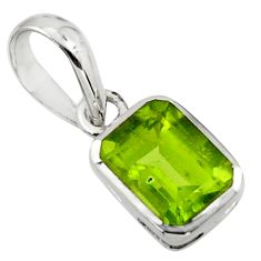 1.71cts natural green peridot 925 sterling silver pendant jewelry r43491