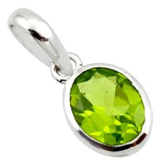 2.79cts natural green peridot 925 sterling silver pendant jewelry r45676
