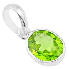 2.50cts natural green peridot 925 sterling silver pendant jewelry r71477