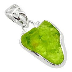 6.15cts natural green peridot rough 925 sterling silver pendant jewelry r29935