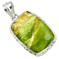 22.59cts natural green pietersite (african) 925 sterling silver pendant r32203