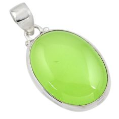 20.18cts natural green prehnite 925 sterling silver pendant jewelry r45997