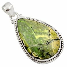 18.15cts natural green swiss imperial opal 925 sterling silver pendant d42326