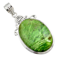 17.57cts natural green swiss imperial opal 925 sterling silver pendant r27675