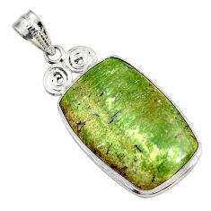 16.73cts natural green swiss imperial opal 925 sterling silver pendant r27677
