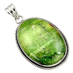 33.68cts natural green swiss imperial opal 925 sterling silver pendant r30509