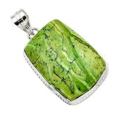 21.48cts natural green swiss imperial opal 925 sterling silver pendant r32172
