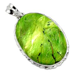 25.00cts natural green swiss imperial opal 925 sterling silver pendant r32175
