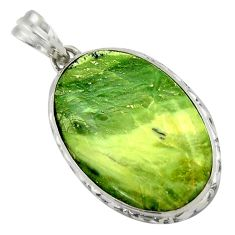 19.72cts natural green swiss imperial opal 925 sterling silver pendant r41713
