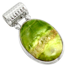 18.70cts natural green swiss imperial opal 925 sterling silver pendant r41810