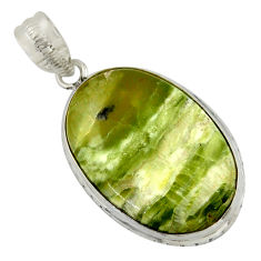 19.07cts natural green swiss imperial opal 925 sterling silver pendant r41812