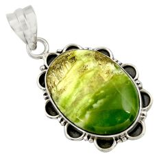16.87cts natural green swiss imperial opal 925 sterling silver pendant r41813