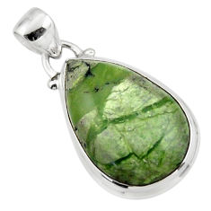 12.15cts natural green swiss imperial opal 925 sterling silver pendant r46344