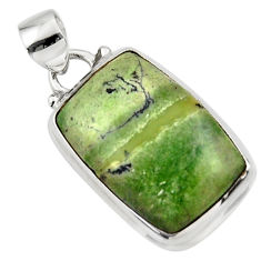 13.15cts natural green swiss imperial opal 925 sterling silver pendant r46345