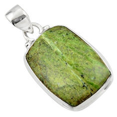 12.15cts natural green swiss imperial opal 925 sterling silver pendant r46348