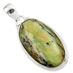 14.23cts natural green swiss imperial opal 925 sterling silver pendant r46352
