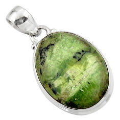 12.68cts natural green swiss imperial opal 925 sterling silver pendant r46353