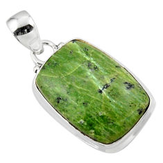 12.90cts natural green swiss imperial opal 925 sterling silver pendant r46355