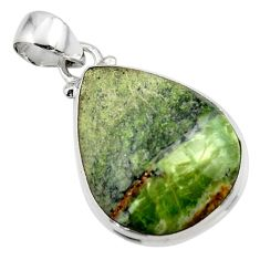 12.82cts natural green swiss imperial opal 925 sterling silver pendant r46357