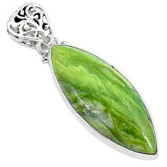 15.05cts natural green swiss imperial opal 925 sterling silver pendant r94550