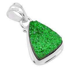 9.83cts natural green uvarovite garnet 925 silver handmade pendant t1942