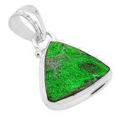 8.46cts natural green uvarovite garnet 925 silver handmade pendant t1946