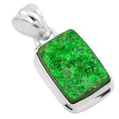 7.44cts natural green uvarovite garnet 925 silver handmade pendant t1947