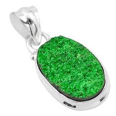 7.60cts natural green uvarovite garnet 925 silver handmade pendant t1956