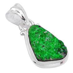 6.15cts natural green uvarovite garnet 925 silver handmade pendant t1978