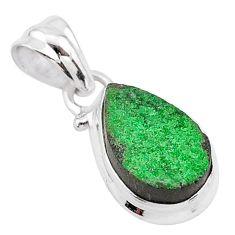 5.21cts natural green uvarovite garnet 925 silver handmade pendant t1986