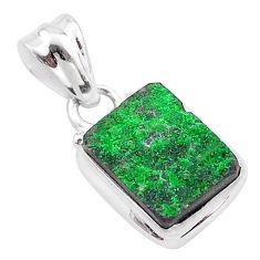 5.06cts natural green uvarovite garnet 925 silver handmade pendant t1989