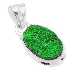 4.89cts natural green uvarovite garnet 925 silver handmade pendant t1997