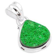 7.24cts natural green uvarovite garnet 925 silver handmade pendant t2050