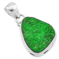 11.20cts natural green uvarovite garnet 925 sterling silver pendant t1925
